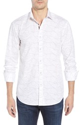 Bugatchi Shaped Fit Sport Shirt Chalk