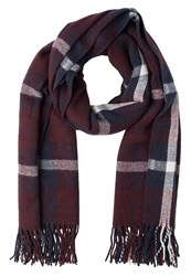 Evenandodd Scarf Bordeaux Blue Rose