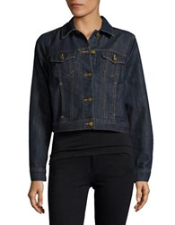 Michael Kors Petite Denim Button Front Jacket Prmrindigo