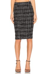 Blaque Label Tweed Pencil Skirt Black And White