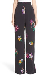 Etro Women's Bird And Floral Print Palazzo Pants