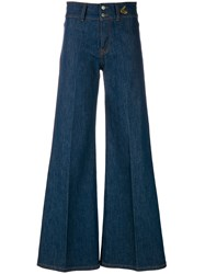 Vivienne Westwood Anglomania High Rise Wide Leg Jeans Blue