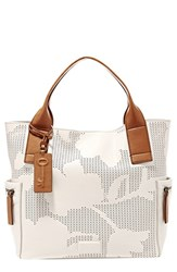 Fossil 'Emerson' Print Leather Satchel