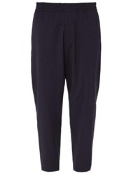 Prada Relaxed Fit Virgin Wool Trousers Blue