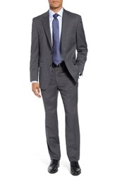 Peter Millar Classic Fit Check Wool Suit Grey