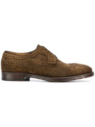 Alberto Fasciani Classic Suede Brogues Nude And Neutrals