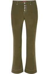 Alexachung Mid Rise Flared Jeans Army Green