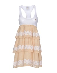 Duck Farm Short Dresses White