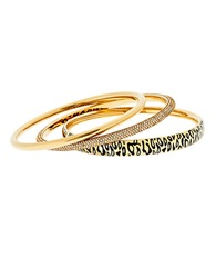 Michael Kors Golden Animal Print Bangles