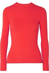 Joostricot Stretch Cotton Blend Sweater Red