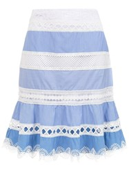 Martha Medeiros Camila Short Skirt Blue