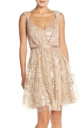 Women's Vera Wang Lace And Sequin Sleeveless Fit And Flare Dress