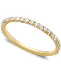 Macy's Pave Diamond Band Ring In 14K White Or Yellow Gold 1 4 Ct. T.W. White Gold