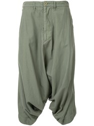 Julius Relaxed Fit Shorts Cotton Green