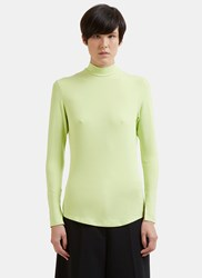 Nomia Long Sleeve Mock Neck Top Green