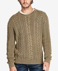 Denim And Supply Ralph Lauren Men's Cable Knit Sweater Green