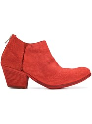 Officine Creative Giselle Ankle Boots Red