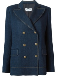 Sonia Rykiel Denim Effect Blazer Blue