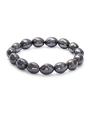 Michael Aram Molten Beaded Bracelet Black Silver
