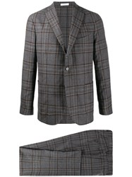 Boglioli Check Print Single Breasted Suit 60