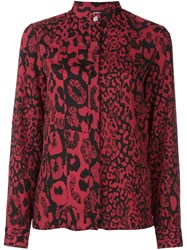 Versus Animal Print Shirt Red