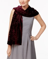 Inc International Concepts Velvet Burnout Jacquard Scarf Only At Macy's Port