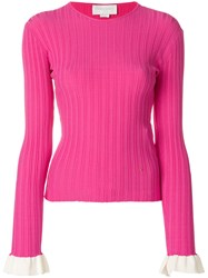 Esteban Cortazar Crew Neck Jumper Pink And Purple