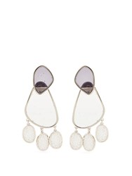 Peter Pilotto Double Face Drop Earrings Clear