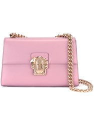 Dolce And Gabbana Chain Strap Shoulder Bag Pink Purple
