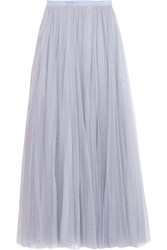 Needle And Thread Tulle Maxi Skirt Light Blue