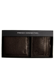 French Connection Wallet And Cardholder Giftset Brown