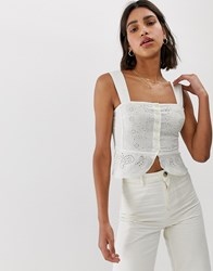 Free People I Want You Bodice Top White