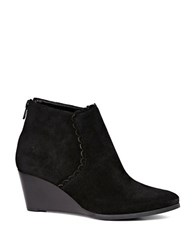 Jack Rogers Emery Suede Wedge Booties Black