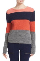 Equipment Women's Calais Stripe V Back Sweater
