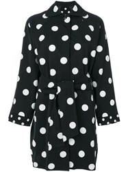 Versace Vintage Dots Printed Raincoat Black