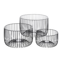 Amara Black Wire Baskets Set Of 3