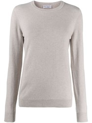 Brunello Cucinelli Crew Neck Sweater Neutrals