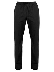 Tomas Maier Cotton Poplin Drawstring Trousers Black
