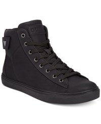 Guess Tulley High Top Sneakers Shoes Black