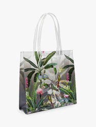 Ted Baker Oleecon Pistachio Clear Large Icon Shopper Bag Light Grey