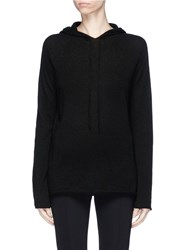 The Row 'Dina' Cashmere Silk Blend Hoodie Black
