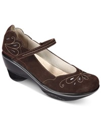 Jambu Women's Bombay Mary Jane Pumps Women's Shoes Dark Brown