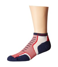 Thorlos Experia Nantucket Micro Mini 3 Pair Pack Cottage Red Crew Cut Socks Shoes Multi