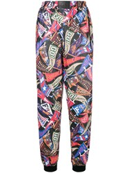 Fiorucci Graphic Print Track Trousers Pink And Purple