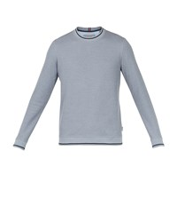 Ted Baker Thersty Textured Cotton Sweatshirt Blue