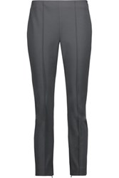 Theory Alettah Stretch Crepe Skinny Pants Charcoal