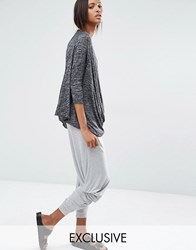 Stitch And Pieces Relaxed Lounge Cropped Jogger Grey
