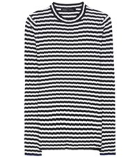 Proenza Schouler Striped Silk And Cashmere Sweater White
