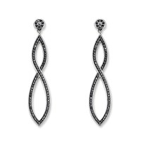 Thomas Sabo Glam And Soul Black Pave Long Earrings