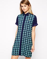 Fred Perry Graphic Printed Shirt Dress Carbonblue